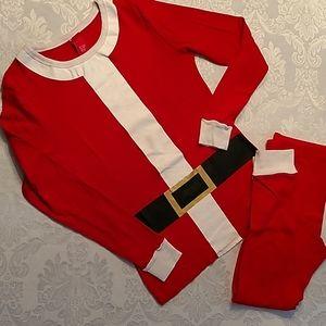 Super cute Christmas morning Santa pajamas, size m